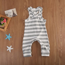 Load image into Gallery viewer, 'Christian' Striped Sleeveless Baby Jumpsuit