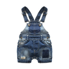 Load image into Gallery viewer, 'Haole' Summer Denim Short Overall Set