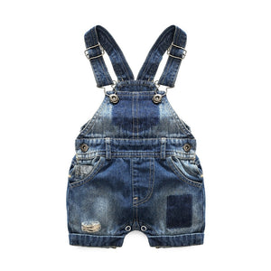 'Haole' Summer Denim Short Overall Set