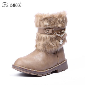 Top Selling leather winter snow boot