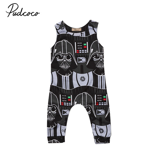 'The Dark Side' Baby Boy Romper
