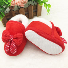 Load image into Gallery viewer, Christmas Newborn Baby Girls Soft Crib Sole Boots