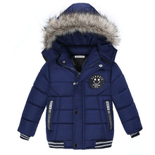 Load image into Gallery viewer, Winter hooded baby jacket
