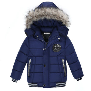 Winter hooded baby jacket