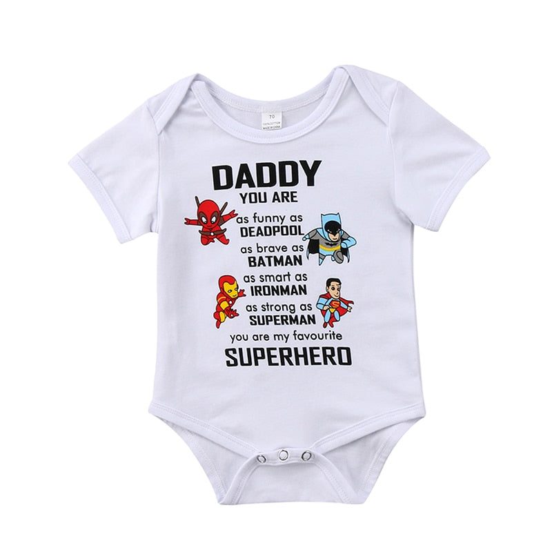 Daddy you are my favourite SUPERHERO Trendy Romper