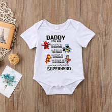 Load image into Gallery viewer, Daddy you are my favourite SUPERHERO Trendy Romper