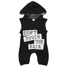 Load image into Gallery viewer, 'Don't Touch The Hair' Hooded Sleeveless Romper