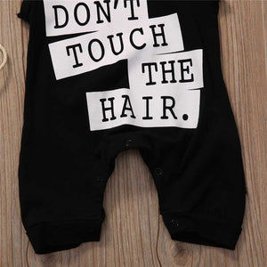 'Don't Touch The Hair' Hooded Sleeveless Romper