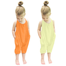 Load image into Gallery viewer, Backless Toddler Girls Strap Harem Jumpsuit [6 color]