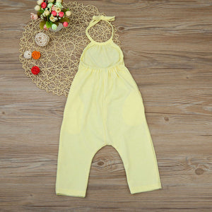 Backless Toddler Girls Strap Harem Jumpsuit [6 color]