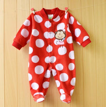 Load image into Gallery viewer, Christmas Newborn Polar Fleece Rompers
