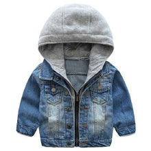 Load image into Gallery viewer, Dylan Denim Trendy Hooded Jacket