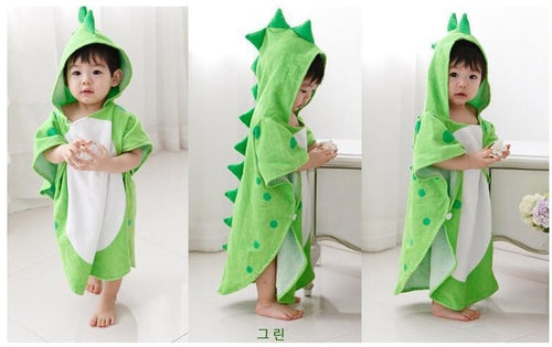 Toddlers 'Darling Dino' Hooded Bath Towel