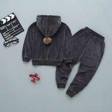 Load image into Gallery viewer, Velvet hoodie set for winter