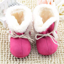 Load image into Gallery viewer, First Walker Fleece Crib Shoes