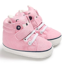 "Load image into Gallery viewer, ""Feet-of-the-art"" spring baby shoes"