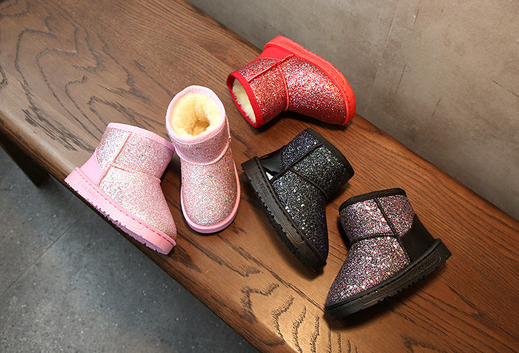 Bling winter shoes for baby girl