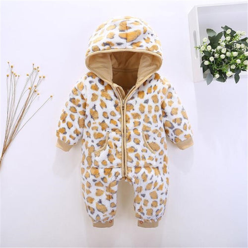 Winter Baby Rompers Newborn Boys Girls Snowsuit