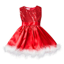Load image into Gallery viewer, Christmas Party Wear Dresses For Baby Girls