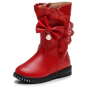 Top selling leather ankle winter high boots