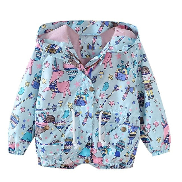 Adorable Cartoon Printed Baby Hoodies