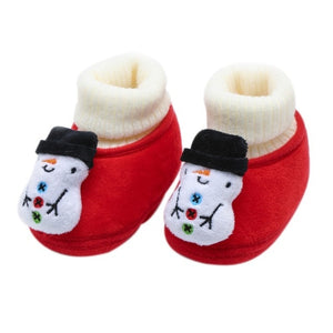 Christmas Fluffy Cotton Baby Winter Warm Shoes