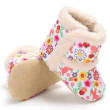 Load image into Gallery viewer, Newborn Winter Baby Girl Crib Shoes