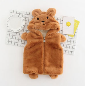 Animal face winter baby coat