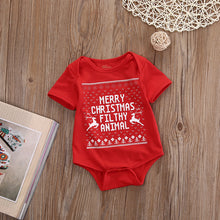 Load image into Gallery viewer, Newborn Baby First Merry Christmas Romper