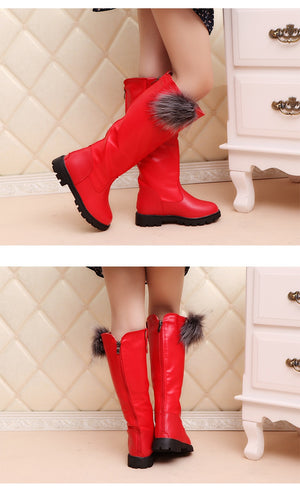 Baby girl high snow boots  for winter
