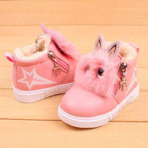 Super cute baby girl leather boots