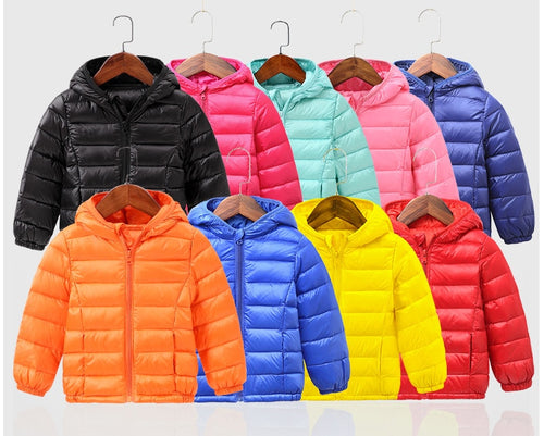 Pure duck winter baby jacket