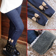Load image into Gallery viewer, Classic Bow Decor Warmer Leggings Winter Outfits
