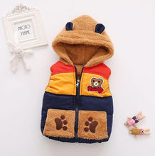 Load image into Gallery viewer, Baby boy hooded winter waistcoat