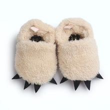 Load image into Gallery viewer, 'Monster' Paw First Walker Baby Slippers