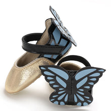 Load image into Gallery viewer, Cute Butterfly Pattern Baby Soft Sole Shoes