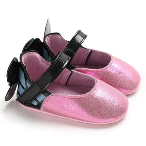 Cute Butterfly Pattern Baby Soft Sole Shoes