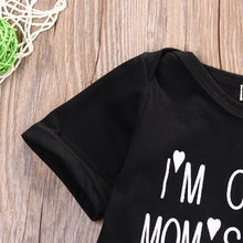 Load image into Gallery viewer, Unisex 'I'm Cute, Mom's Hot, Dad's Lucky' Baby Onesie