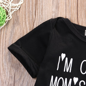 Unisex 'I'm Cute, Mom's Hot, Dad's Lucky' Baby Onesie