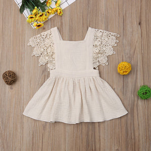Vintage Lace-Sleeved  Baby  Dress