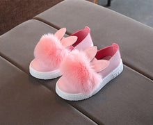 Load image into Gallery viewer, 'Bunny Pom' Baby Sneakers