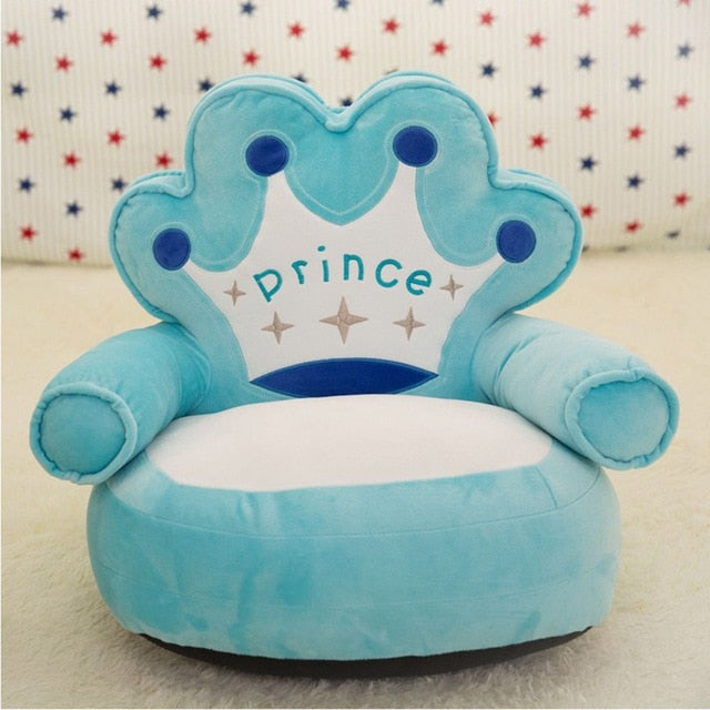 Baby Kids Only Cover NO Filling Cartoon Crown Seat Children Chair Neat Skin Toddler Children Cover for Sofa Best Gifts appease