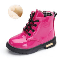 Load image into Gallery viewer, Fashionable PU Leather Toddler Warm Boots