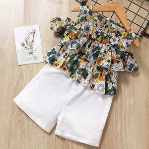 'Ruffle ' Short Sleeve 2pc Baby Girls' Clothing Sets