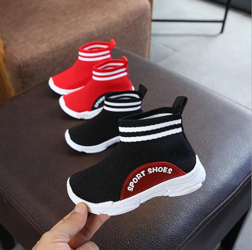'Knitted' Mesh Stretch Comfort Baby Sneaker