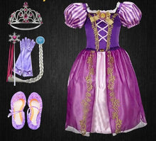 Load image into Gallery viewer, Scintillating Rapunzel Princess Baby's First Christmas Outfit