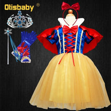 Load image into Gallery viewer, Snow-White Cosplay Baby Girl Christmas Dress