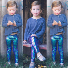Load image into Gallery viewer, Sparkling Mermaid Pattern Pencil Sequined Leggings