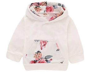 Floral Print Baby Girl's Full Clothing Set + Headband