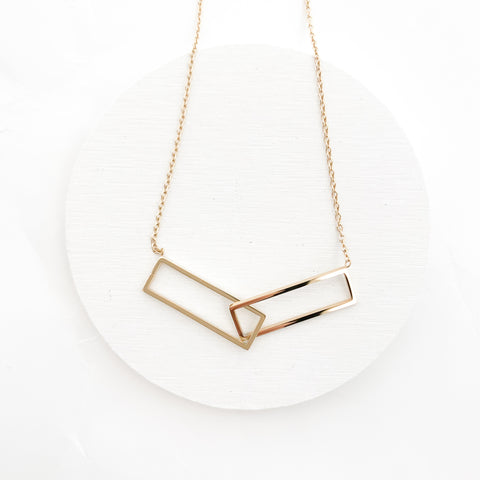 Rrectangle necklace